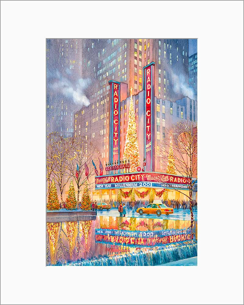 Radio City by Roustam Nour matted artwork