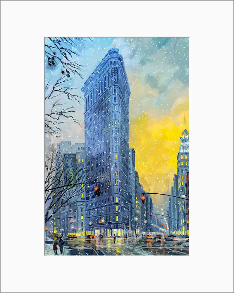 Flatiron Building by Nataly Shootkin matted artwork