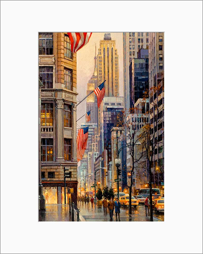 Fifth Avenue by Max Lanchak matted artwork