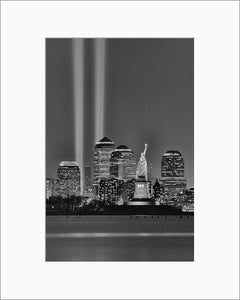 Tribute in Light black & white photograph by Alex Leykin matted artwork