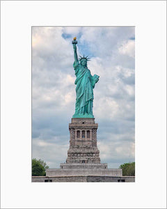 Lady Liberty color photograph by Russel Bach matted artwork