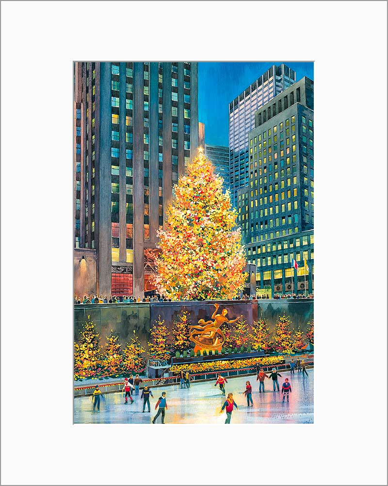 Christmas Tree by Roustam Nour matted artwork
