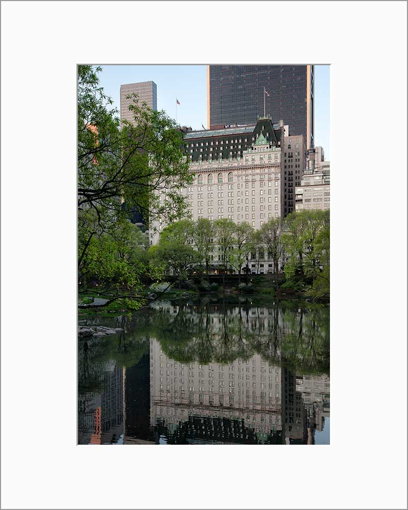 Plaza Hotel color photograph by Russel Bach matted artwork