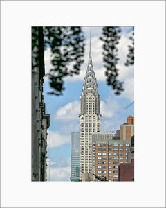 Chrysler Building color photograph by Alex Leykin matted artwork
