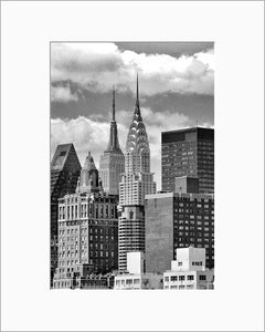 New York Midtown black & white photograph by Alex Leykin matted artwork