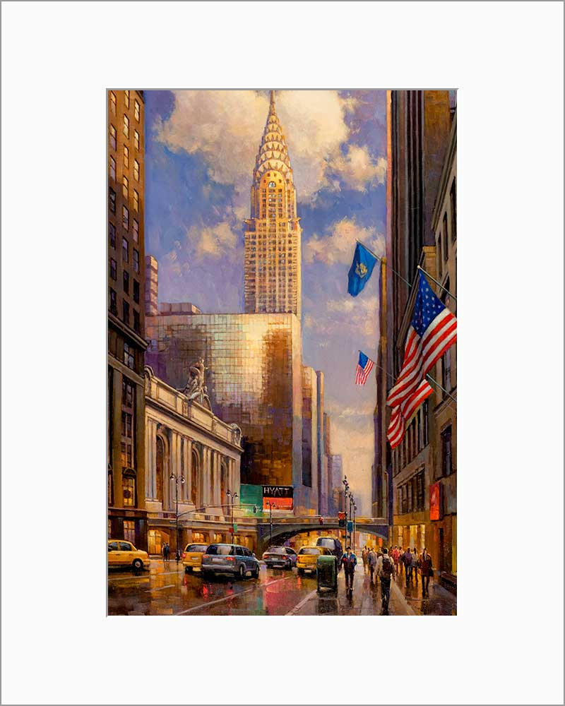 Chrysler Building by Max Lanchak matted artwork