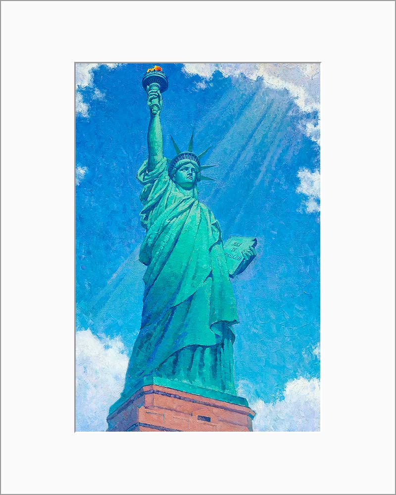 Statue of Liberty by Max Lanchak matted artwork