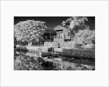 Load image into Gallery viewer, Venice Canal black & white photograph by Alex Leykin matted fine art giclée print