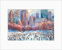 Load image into Gallery viewer, Wollman Rink by Roustam Nour matted artwork