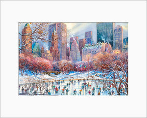 Wollman Rink by Roustam Nour matted artwork