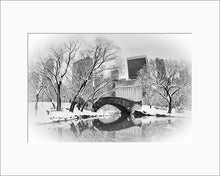 Load image into Gallery viewer, Gapstow Bridge black & white photograph by Alex Leykin matted artwork