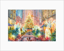Load image into Gallery viewer, Christmas Angels by Roustam Nour matted artwork
