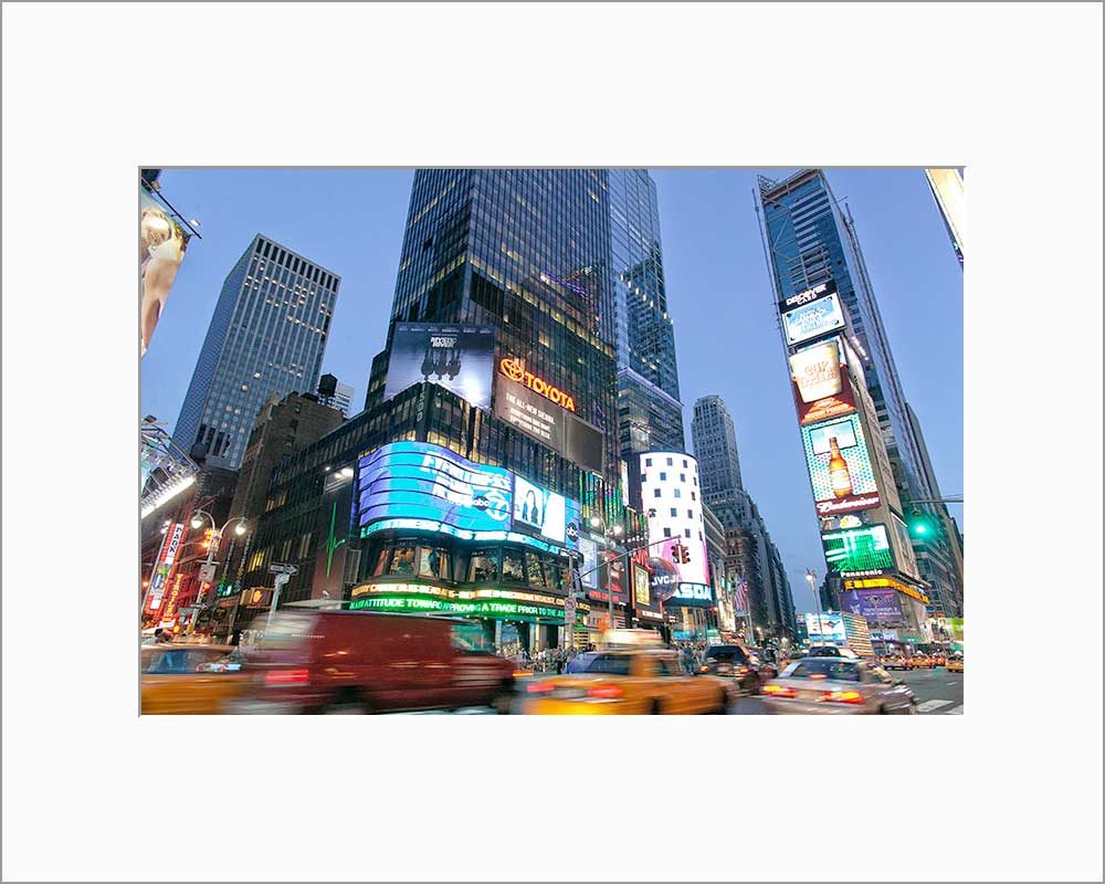 Times Square color photograph by Alex Leykin matted artwork