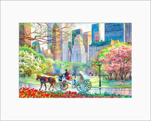 Load image into Gallery viewer, Spring in Central Park by Roustam Nour matted artwork