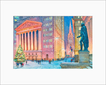 Load image into Gallery viewer, New York Stock Exchange by Roustam Nour matted artwork