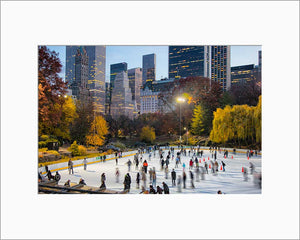 Wollman Rink color photograph by Russel Bach matted artwork