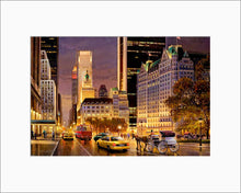 Load image into Gallery viewer, Fifth Avenue at night by Max Lanchak matted artwork