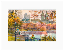 Load image into Gallery viewer, Central Park West by Roustam Nour matted artwork