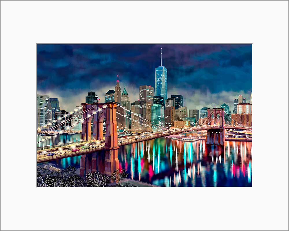 Freedom Tower by Nataly Shootkin matted artwork
