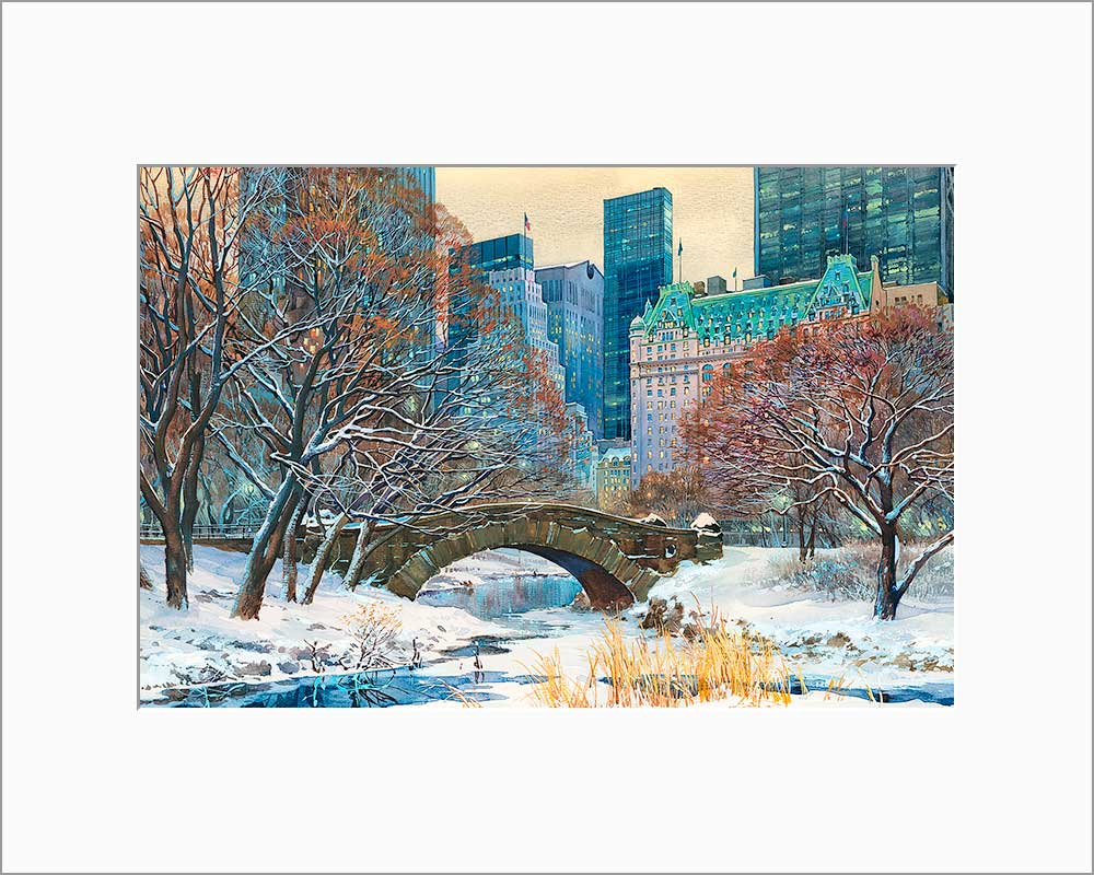 Gapstow Bridge by Roustam Nour matted artwork
