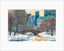 Load image into Gallery viewer, Gapstow Bridge by Roustam Nour matted artwork