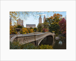 Bow Bridge color photograph by Russel Bach matted artwork