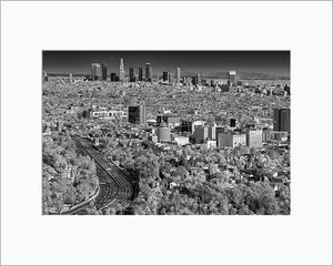 Los Angeles black & white photograph by Alex Leykin matted artwork