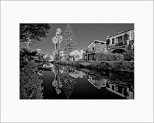 Load image into Gallery viewer, Venice Canal black & white photograph by Alex Leykin matted artwork