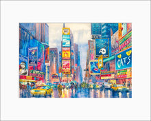 Load image into Gallery viewer, Times Square by Roustam Nour matted artwork