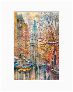 Fifth Avenue by Roustam Nour matted artwork