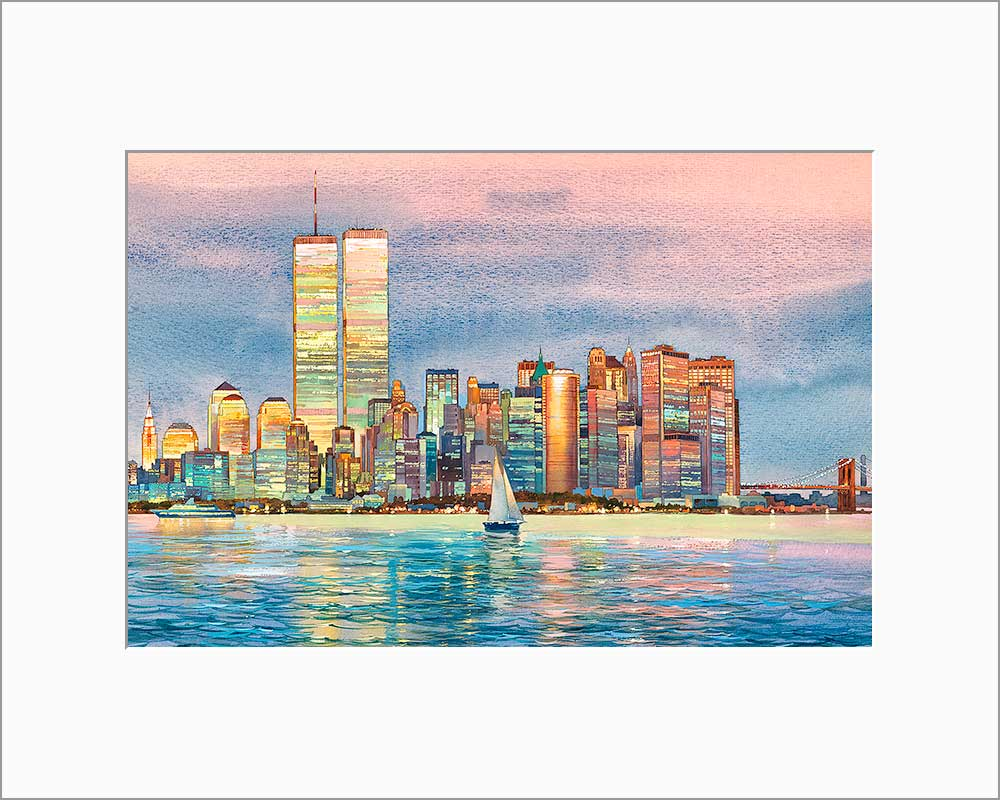 New York Skyline by Roustam Nour matted artwork
