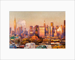 New York City by Max Lanchak matted artwork