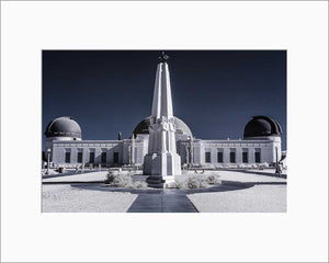 Griffith Observatory infrared photograph by Alex Leykin matted artwork