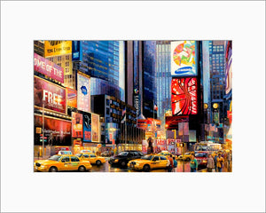 Times Square by Max Lanchak matted artwork