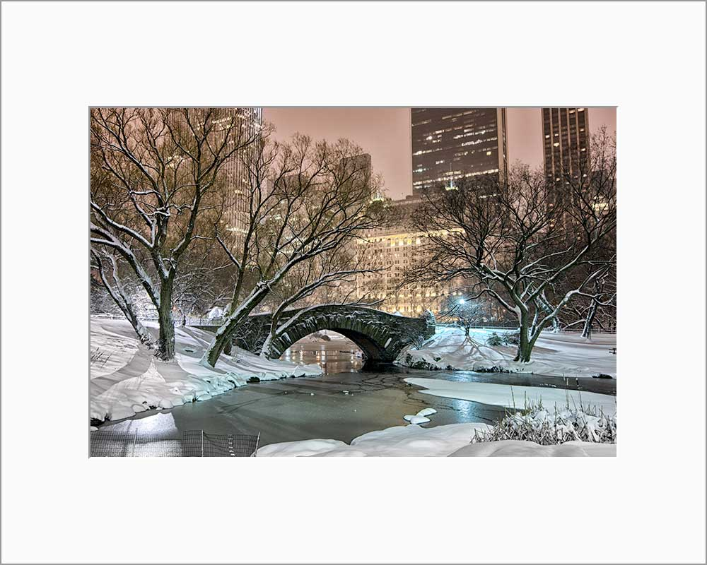 Gapstow Bridge color photograph by Russel Bach matted artwork