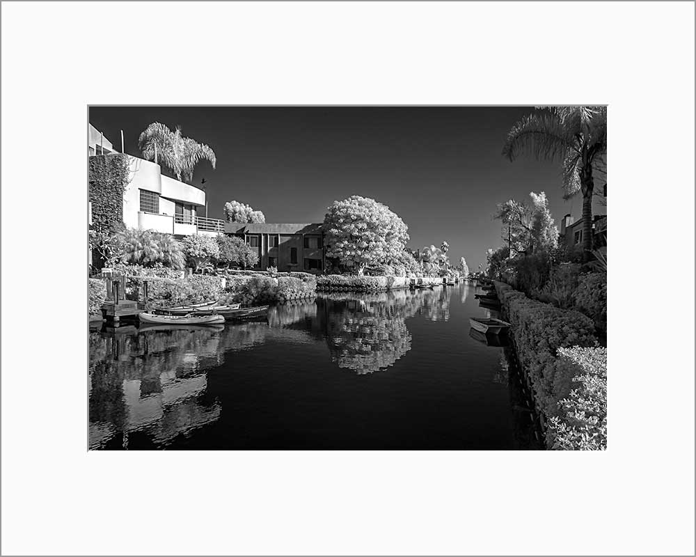 Venice Canal black & white photograph by Alex Leykin matted fine art giclée print