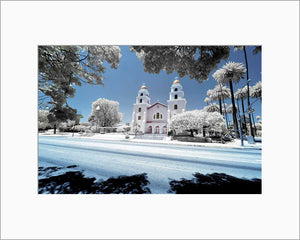 Church of the Good Shepherd infrared photograph by Alex Leykin matted artwork