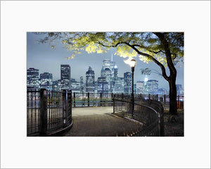 New York Downtown color photograph by Alex Leykin matted artwork