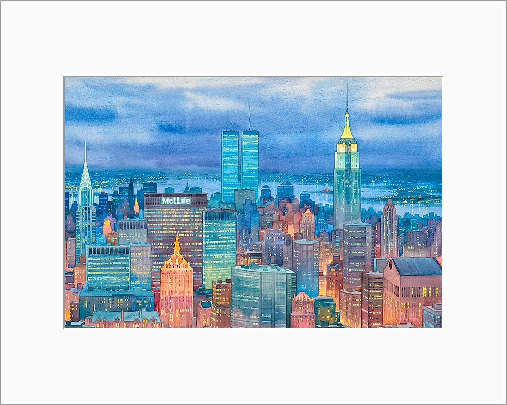 New York Midtown by Roustam Nour matted artwork