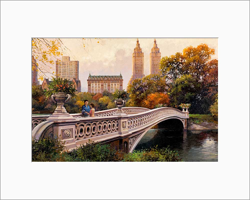 Bow Bridge by Max Lanchak matted artwork