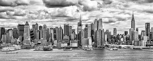 New York Skyline panoramic black & white photograph by Russel Bach fine art giclée print