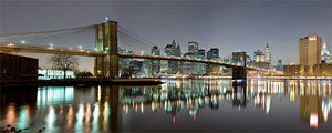 Brooklyn Bridge panoramic color photograph by Russel Bach fine art giclée print