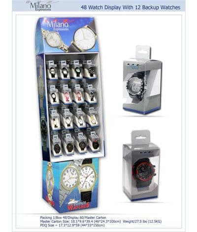 48 Watch Display With 12 Backup Watches (10006) Wholesale Watch - AkzanWholesale