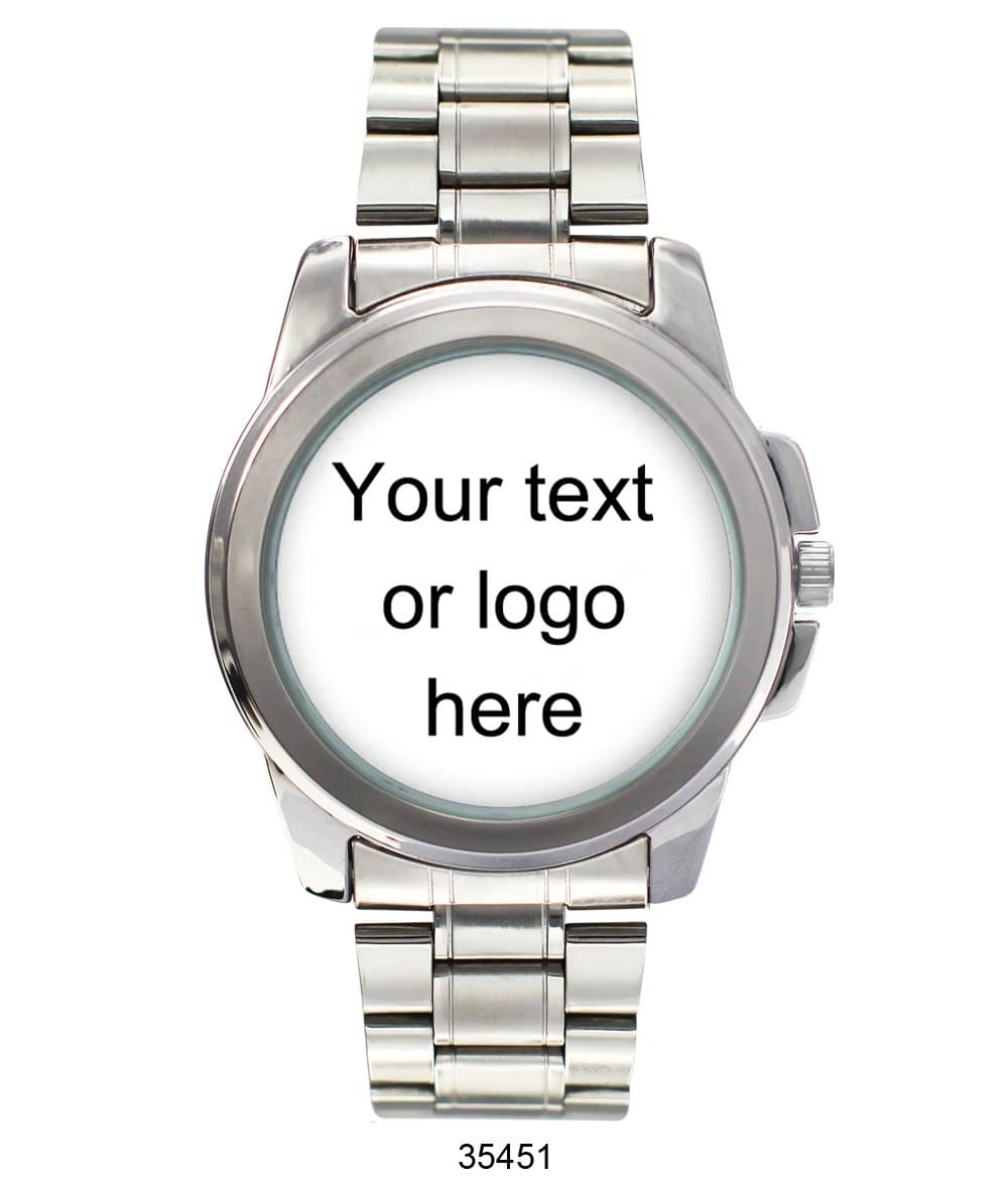 3545 - Customizable Metal Band Watch