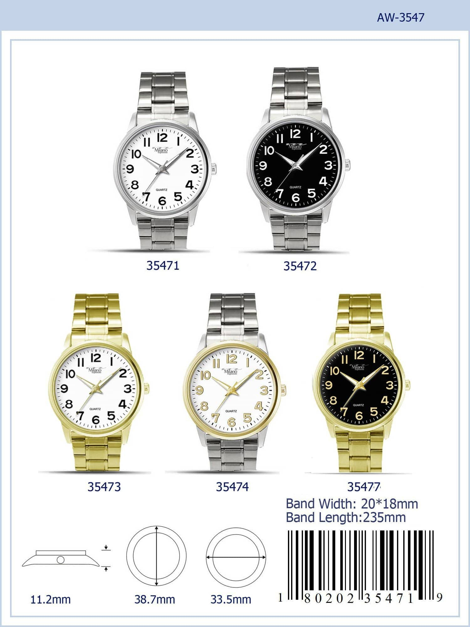 3547 - Metal Band Watch
