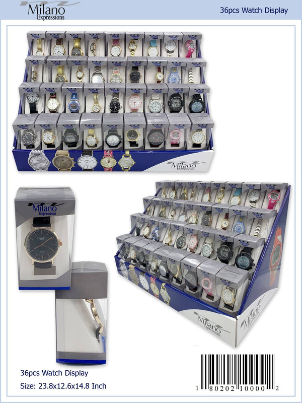 36 Piece Assorted Display with Men's and Ladies Watches (10000-36)