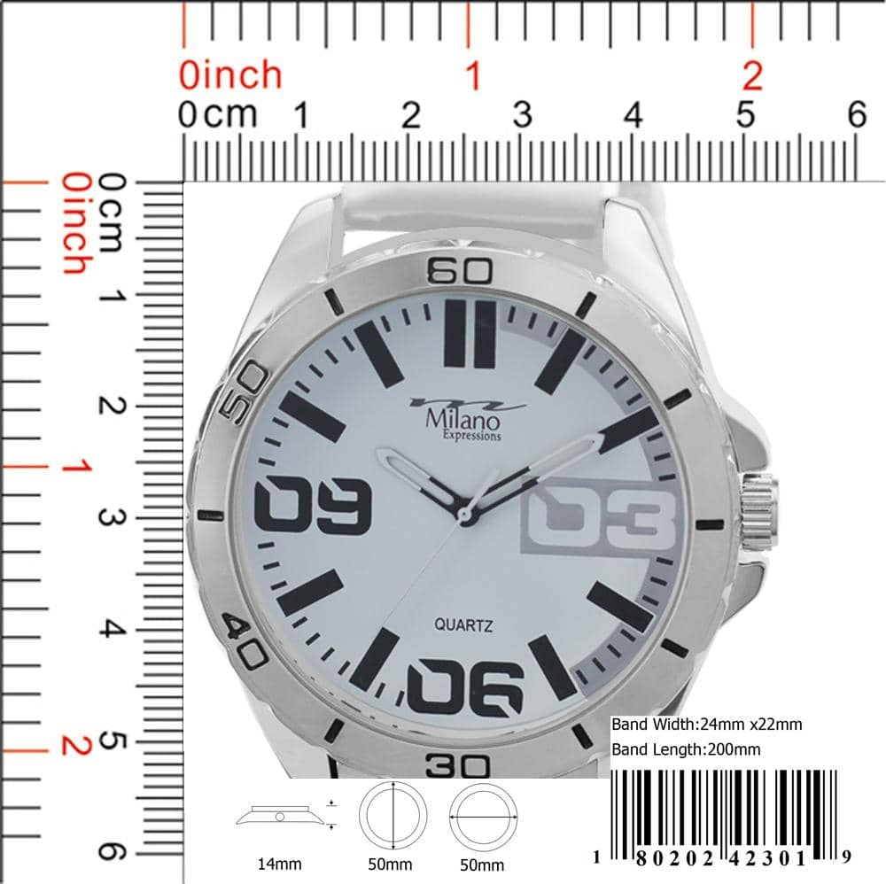 4230 - Silicon Band Watch