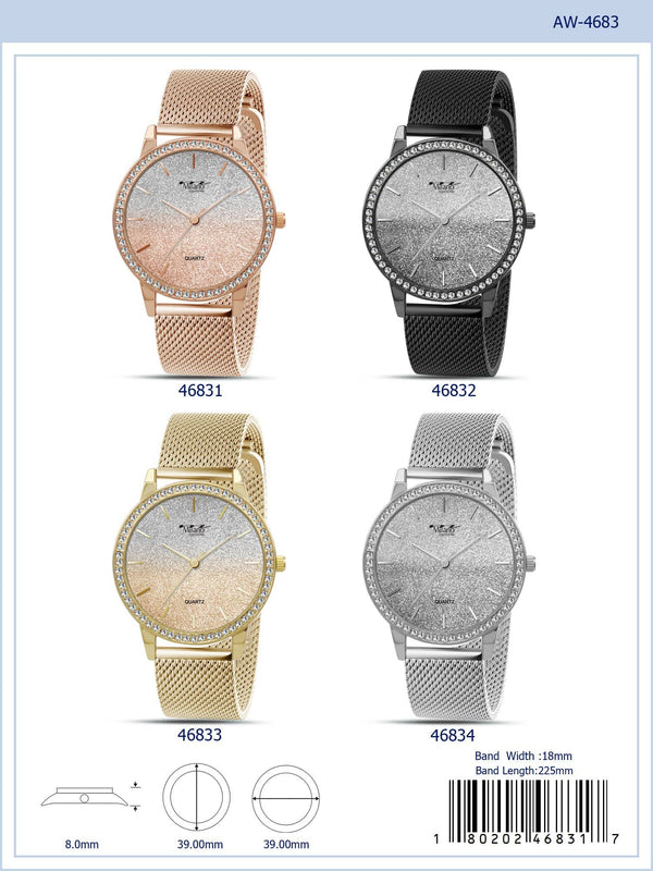 39MM Milano Expressions Mesh Band Watch - 4683