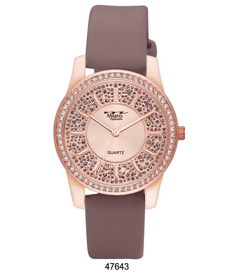 4764 - Vegan Leather Band Watch