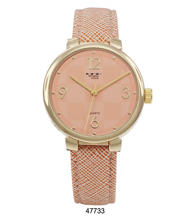 4773 - Vegan Leather Band Watch